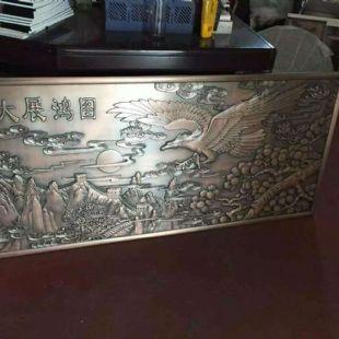不锈钢浮雕镂空金属背景玄关古铜